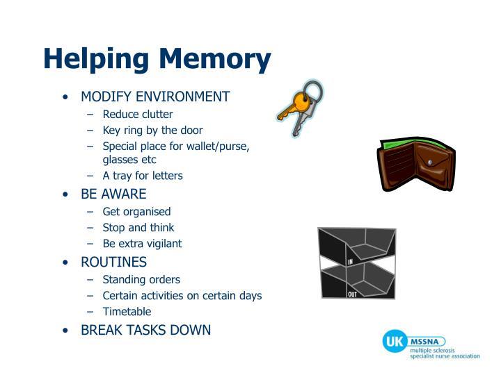 Helping Memory
