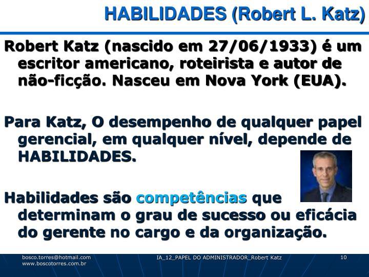 HABILIDADES (Robert L. Katz)