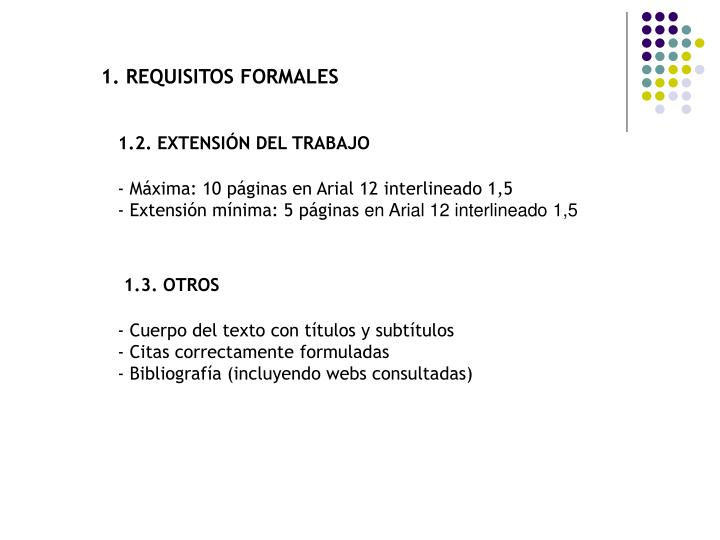 1. REQUISITOS FORMALES