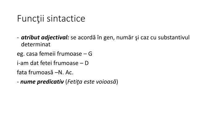 Funcţii sintactice