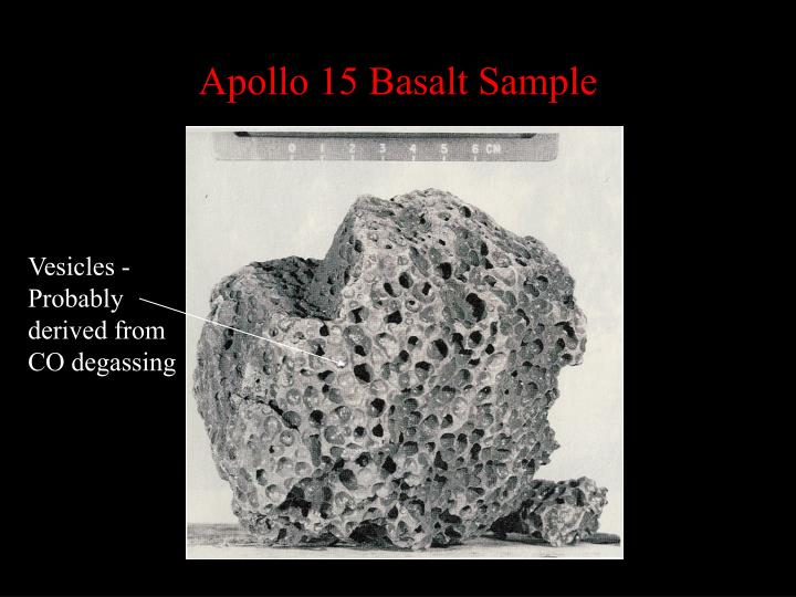 Apollo 15 Basalt Sample