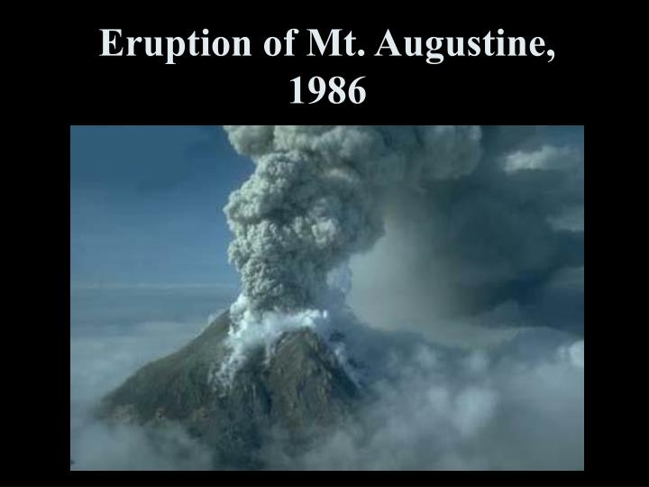 Eruption of Mt. Augustine, 1986
