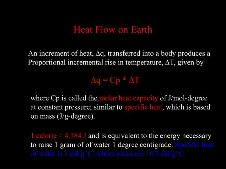 Heat Flow on Earth