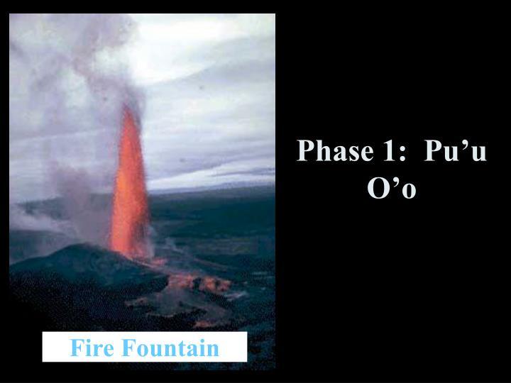 Phase 1:  Pu'u O'o