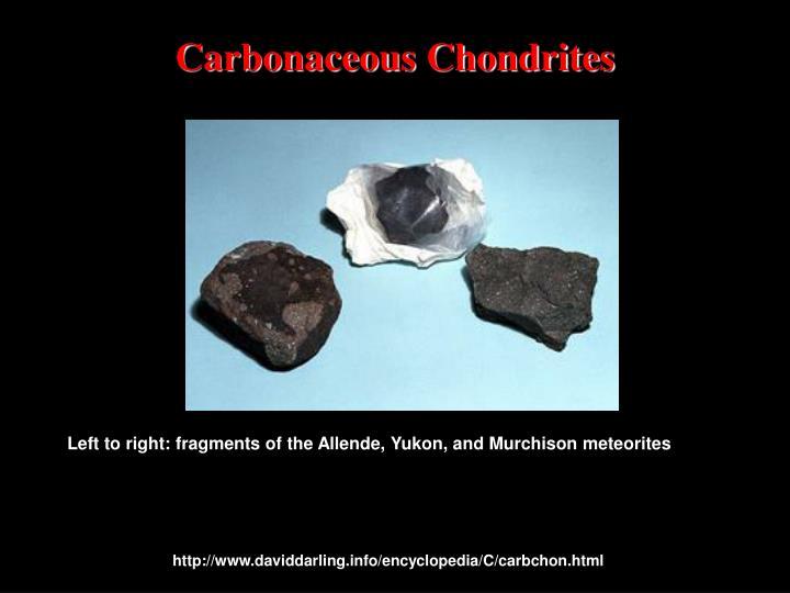 Carbonaceous Chondrites