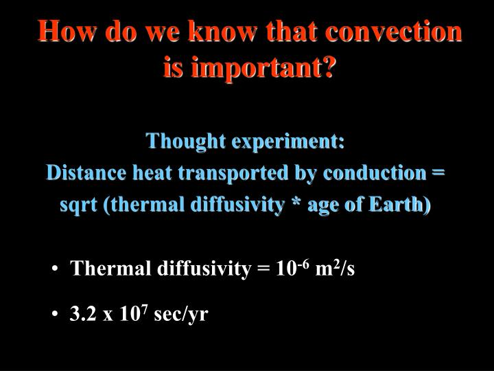 How do we know that convection is important?