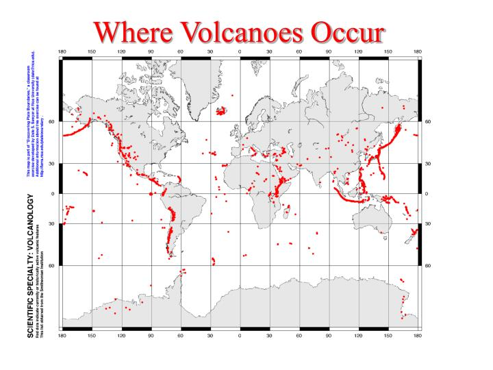Where Volcanoes Occur