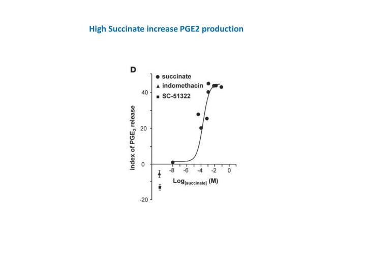 High Succinate increase PGE2 production