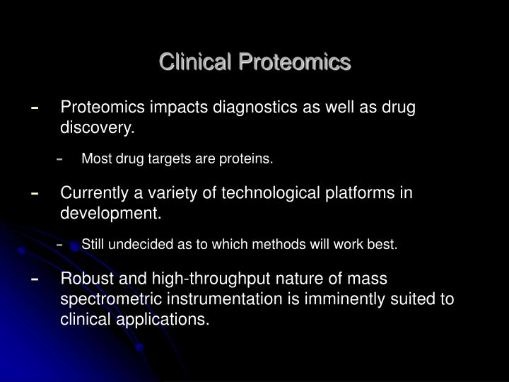 Clinical Proteomics