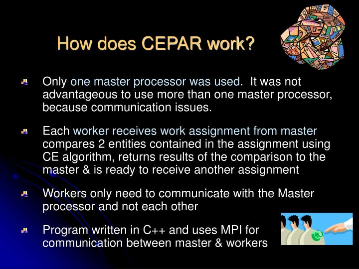 How does CEPAR work?