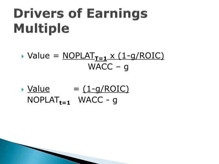 Drivers of Earnings Multiple