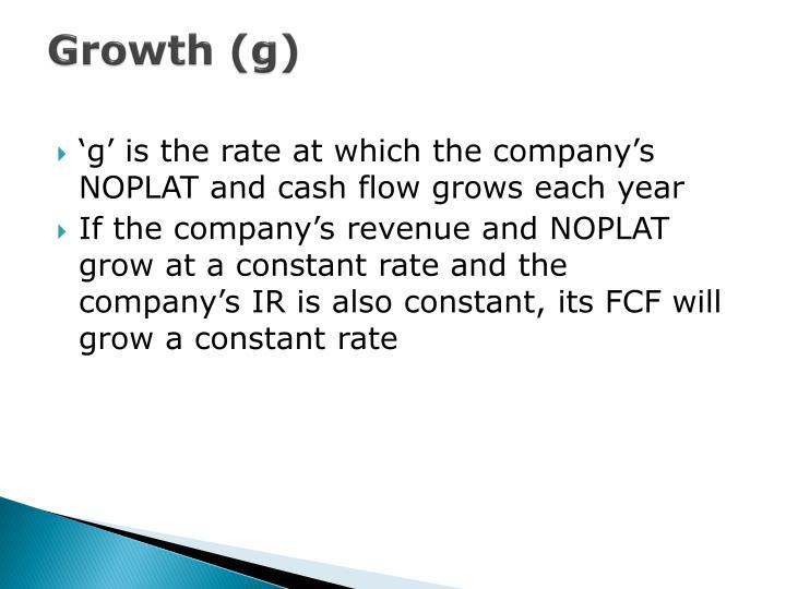 Growth (g)