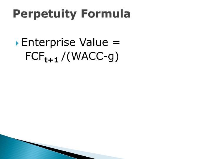 Perpetuity Formula