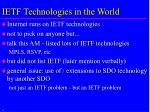 ietf technologies in the world