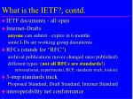 what is the ietf contd