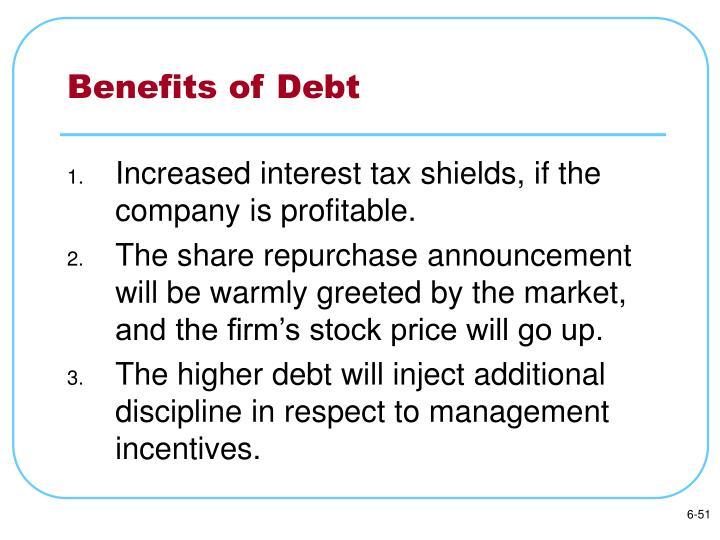 Benefits of Debt