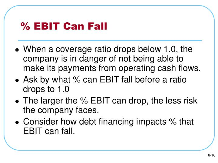 % EBIT Can Fall