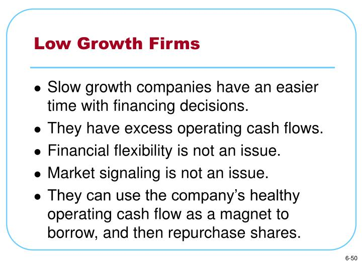Low Growth Firms
