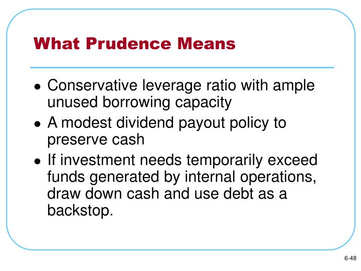 What Prudence Means