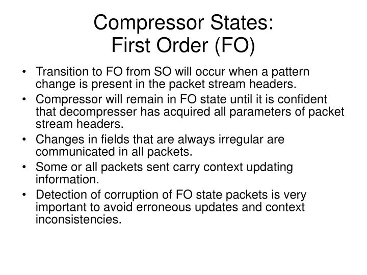 Compressor States: