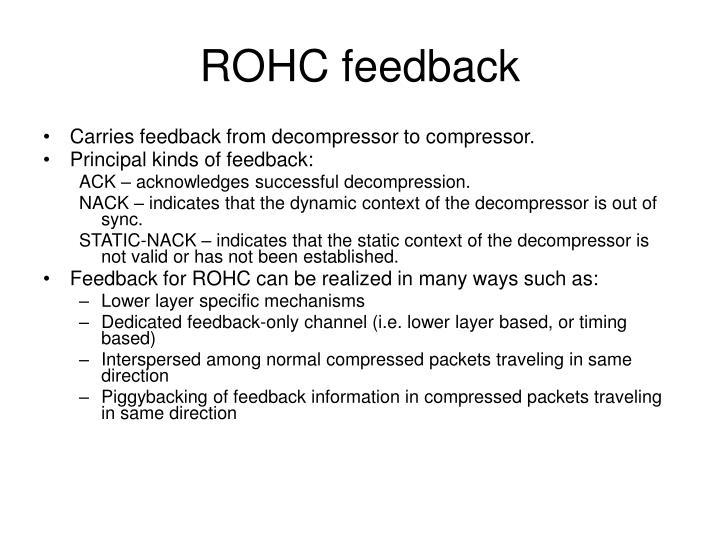 ROHC feedback