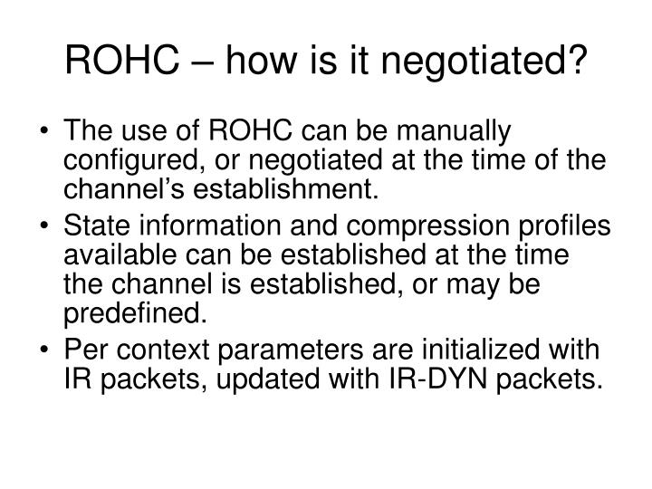ROHC – how is it negotiated?