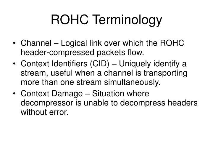 ROHC Terminology
