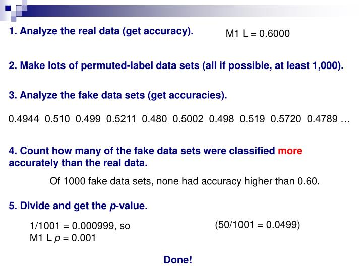 1. Analyze the real data (get accuracy).