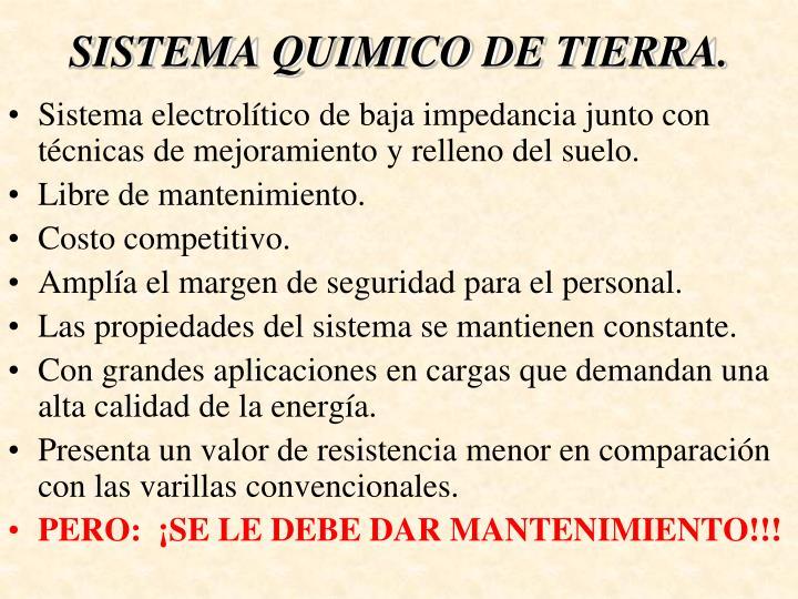 SISTEMA QUIMICO DE TIERRA.