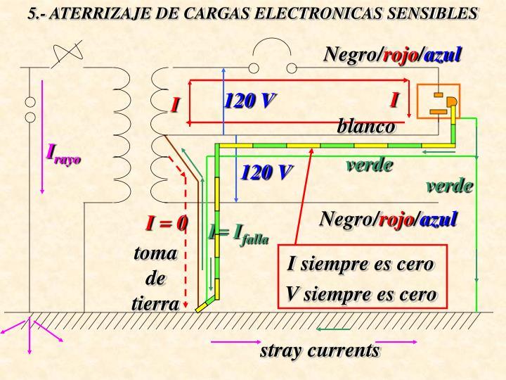 5.- ATERRIZAJE DE CARGAS ELECTRONICAS SENSIBLES