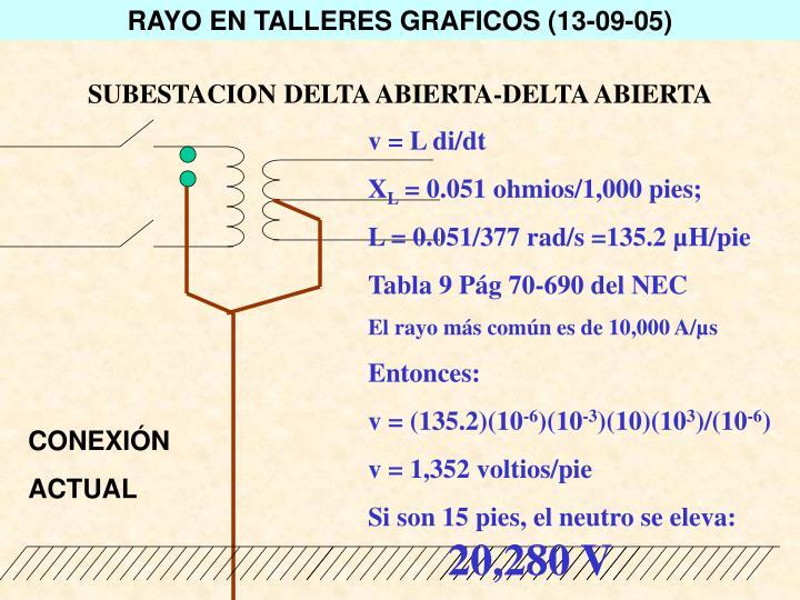 RAYO EN TALLERES GRAFICOS (13-09-05)
