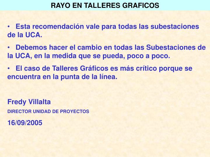 RAYO EN TALLERES GRAFICOS