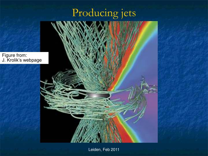 Producing jets