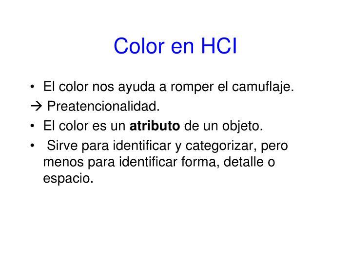 Color en HCI