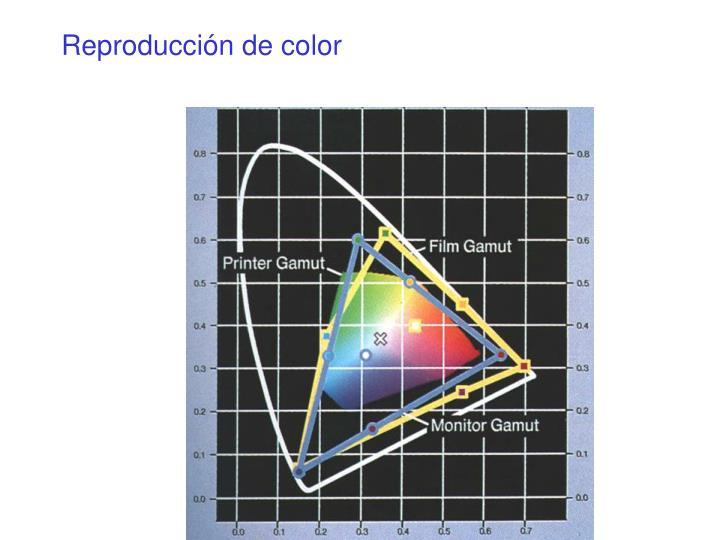 Reproducción de color