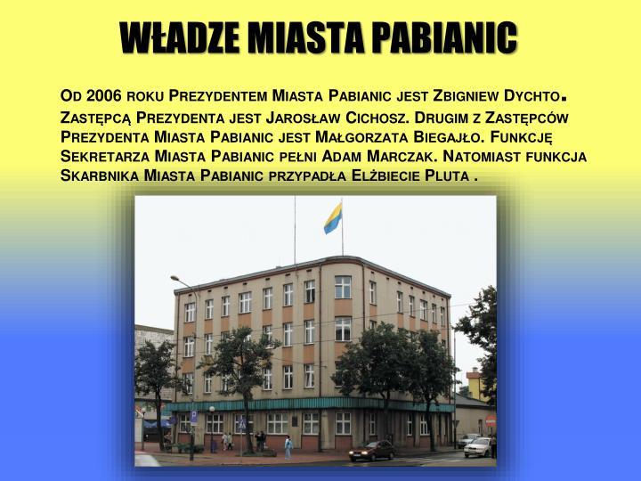 Władze miasta Pabianic