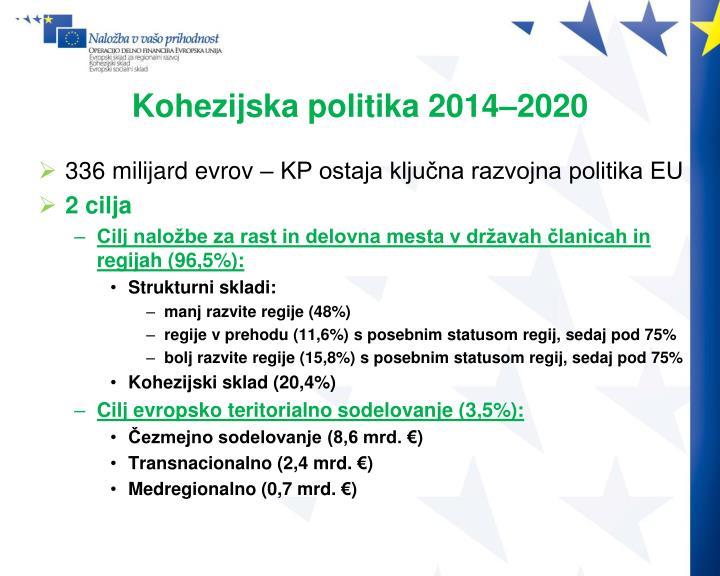 Kohezijska politika 2014–2020