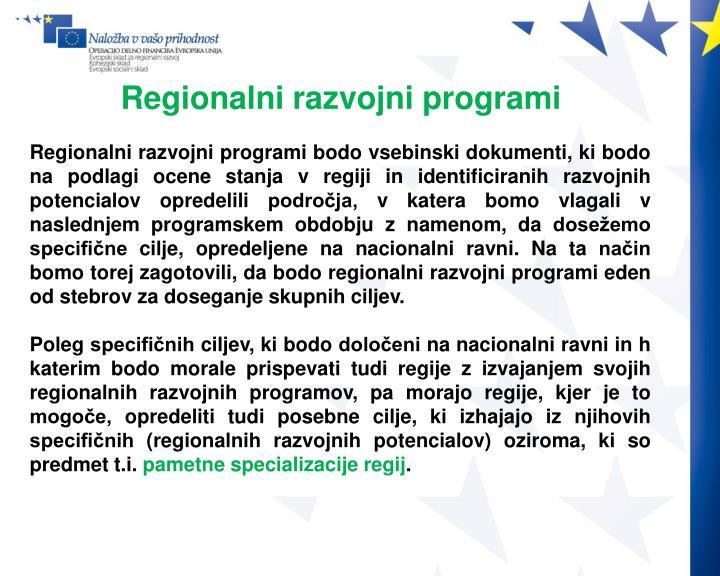 Regionalni razvojni programi
