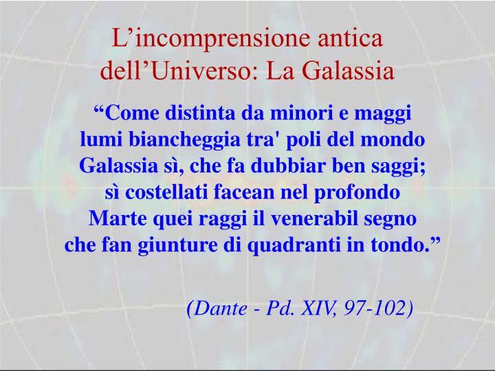 L'incomprensione antica dell'Universo: La Galassia