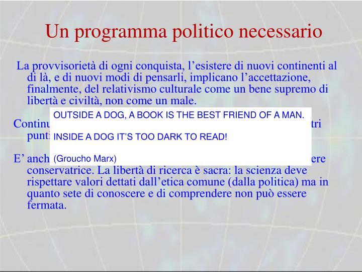 Un programma politico necessario