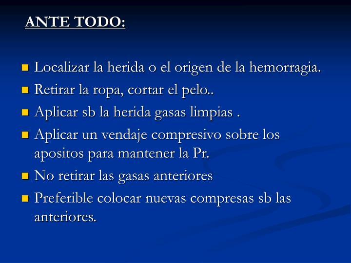 ANTE TODO: