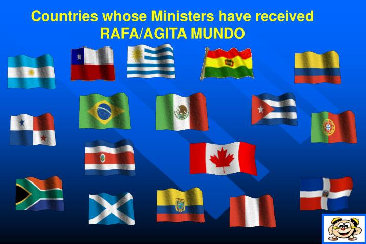 Countries whose Ministers have received