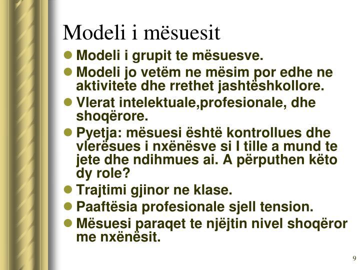 Modeli i mësuesit