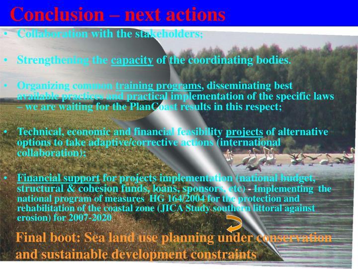 Conclusion – next actions