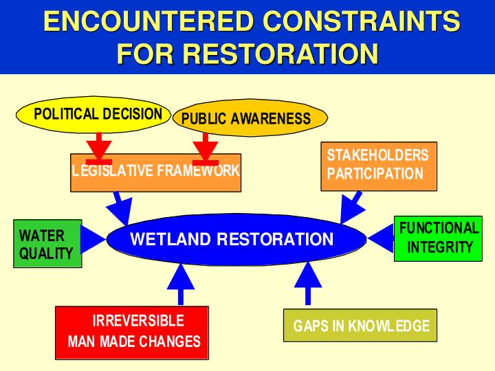 ENCOUNTERED CONSTRAINTS FOR RESTORATION
