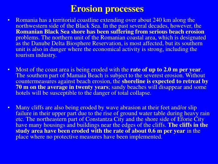 Erosion processes