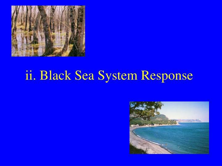 ii. Black Sea System Response