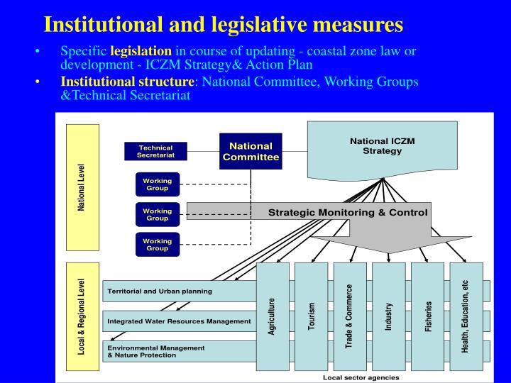 Institutional and legislative measures