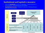 institutional and legislative measures