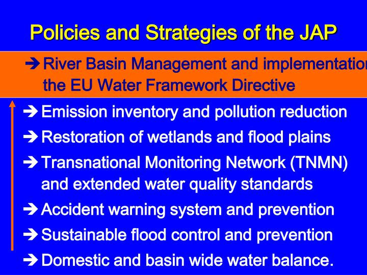 Policies and Strategies of the JAP